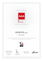 """Ocenění pro Sporten """"CZECH Stability Award"""""""